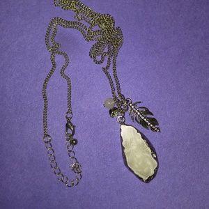 Genuine Stone Charm Necklace